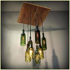 wine bottle chandelier frame diy recycled