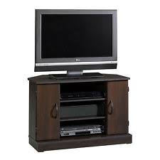tv rack. sauder beginnings adjustable shelves corner tv stand, cinnamon cherry | 416406 tv rack
