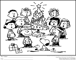 Small Picture Charlie Brown Christmas Coloring Page In Snoopy Coloring Pages