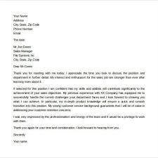 Thank You Letter After A Second Interview Cover Letter Example
