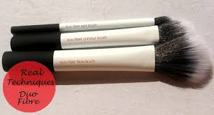 real techniques duo fiber collection brush set review india