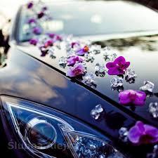 Storczyki Sztuczne Duże do Przyklejania 20 szt. WYBIERZ KOLOR | Wedding car  decorations, Wedding car, Vintage car wedding
