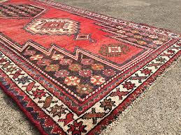 3x10 persian runner rug hand knotted rugs iran heriz antique red blue wool 3x9 10