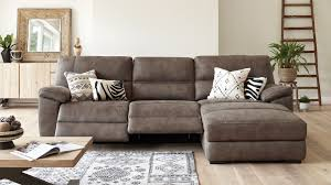 fabric reclining sofas. Delighful Sofas Jenson 3 Seater Fabric Recliner Sofa With Chaise By Synargy Throughout Reclining Sofas