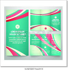 Folding Poster Template Free Art Print Of Professional Three Fold Business Flyer Template