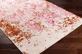 artistic weavers egypt egt 3074 lara pink rust rug