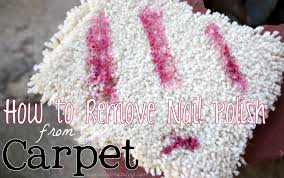 how to clean nail polish out of carpet