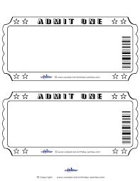 Ticket Admit One Template Rjengineering Net