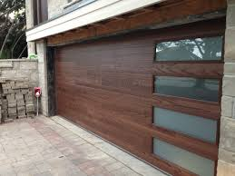 modern wooden garage doors. Brilliant Wooden Nice Mid Century Modern Garage Doors With Wood And Glass Windows Plus  Natural Brick Wall Paver Floor In Basket Weave Pattern For Modern Wooden Garage Doors O
