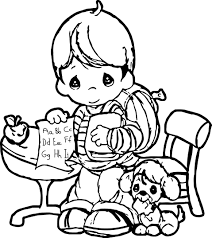 Precious Moments Coloring Page Make Write