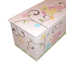childrens wooden toy box  hooo loves pink chunky monkey owls