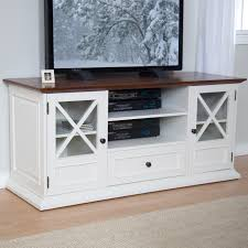 White And Wood Tv Stand D70