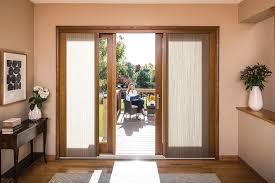 wood sliding patio doors. Wooden Sliding Patio Door With Shades Wood Doors