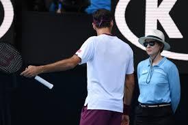 Roger Federer vents at line judge after being warned for ...