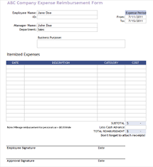 expense reimbursement form doc useful ms excel and word templates for business owners