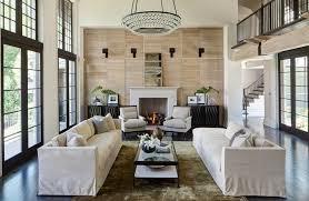 luxury symmetrical living room
