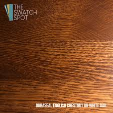 English Chestnut 133 Duraseal Stain Sample Swatch Stain