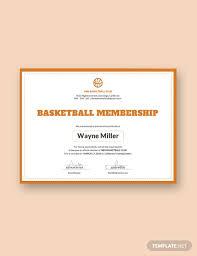 Free Basketball Membership Certificate Template Download 323
