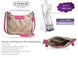 COACH 48048 ASHLEY DOTTED OP ART SWINGPACK style  F48048