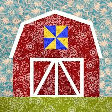 Stitch the Simple Life With 6 Farm Quilts & ... Farm Quilt Pattern here. Red Barn paper pieced block Adamdwight.com