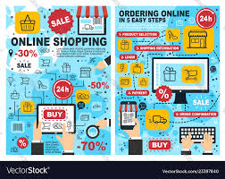 Process Chart Online Online Shopping And Ordering Process Chart