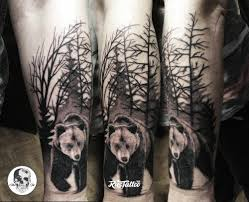 фото татуировки медведь в стиле трэш полька татуировки на