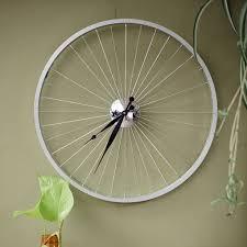 bicycle wheel clock 57 cm black