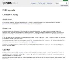 Fig. 1. The Plos Biology Crossmark Policy Page (Available From: Http ...