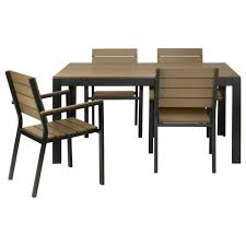 outdoor table and chairs falster table and 4 armchairs outdoor black brown awhxqbr