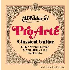 Daddario Ej 49 Pro Arte Black Acoustic Nylon Strings