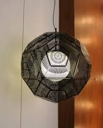 replica tom dixon etch web pendant lamp black new