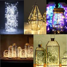 20 50 100 led string fairy lights copper wire battery powered waterproof diy