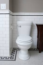 bathroom large traditional master white tile and subway tile mosaic tile floor and white floor