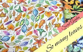 Secret Garden Colouring Book Leaveslll