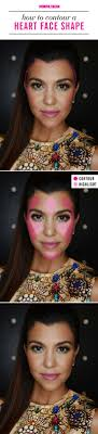 how to contour if you have a heart face shape makeup