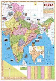 Ibd Latest Political Map Of India Pre School Double Side