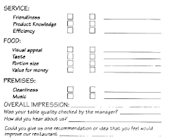 Printable Survey Template Food Service Survey Template More From Business Post Training Survey