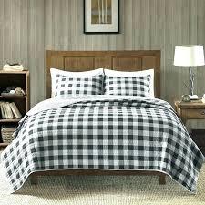 black buffalo check bedding black and white buffalo check bedding cotton 3 piece quilt set bedspread