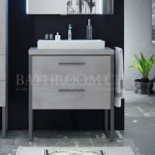 solitaire 9025 traditional vanity unit with legs 2 drawers countertop and basin 178347