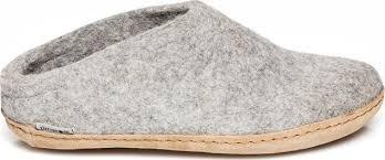 Glerups Leather Sole Slippers Unisex