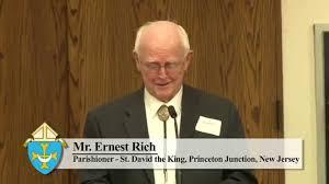 Mr. Ernest Rich, parishioner, speaking at the Endowment Launch - YouTube