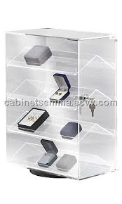 countertop acrylic display case boxed jewelry rack rotating lucite box storage