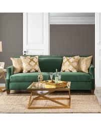emerald green sofa. Modren Sofa Katrina Contemporary Nailhead Microfiber Emerald Green Sofa By Furniture Of  America Inside R
