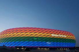 Bayern Munich Stadium Lights Bayern Munich Light Allianz Arena In Rainbow Flag On