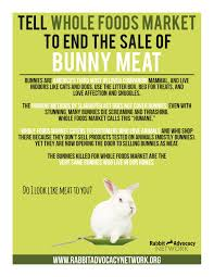 Selling Flyers Whole Foods Flyers And Posters Rabbit Advocacy Network
