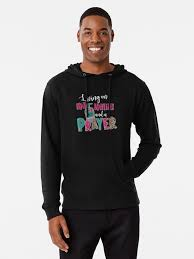 "Living On Hand Sanitizer And A Prayer"" Lightweight Hoodie by Mandy-Sims-8643  
