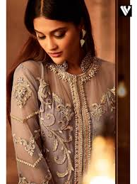 Rosy S Party Designers Rosy Brown Fancy Net Party Wear Designer Palazzo Salwar Suit