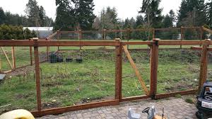 garden fence deer. Simple Garden This Garden Fence In The Outskirts Of Olympia Has An Access Gate And A  Double On Garden Fence Deer G