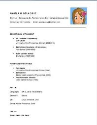 Resume For A Highschool Graduate Beauteous Resume Template For High School Graduate With No Work Experience