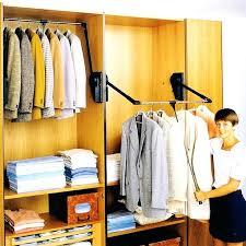 pull down closet rod heavy duty wardrobe lift cabinet ideas clothes back wall mount